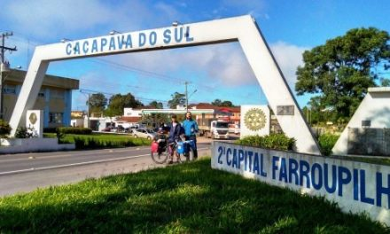Cicloturista de Criciúma passa por Caçapava
